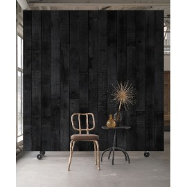 Maarten Baas Burnt Wood Wallpaper by Piet Hein Eek