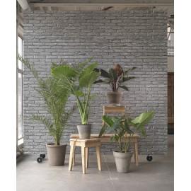 Silver Grey Brick Wallpaper by Piet Hein Eek