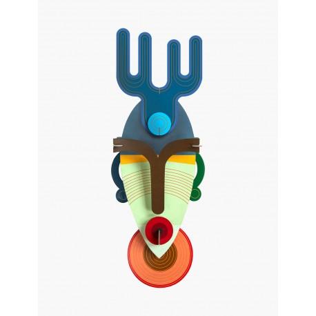 3D wanddecoratie - Dakar Mask